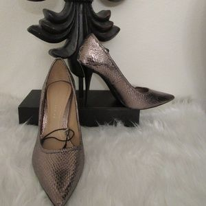 Zara Taupe Snakeskin Heel